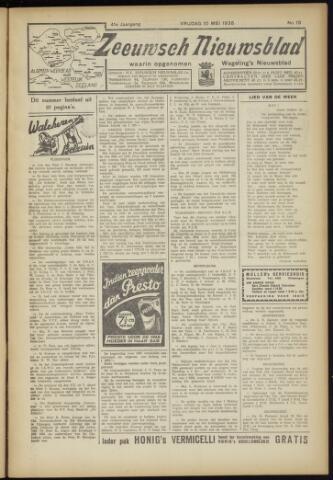 Zeeuwsch Nieuwsblad/Wegeling's Nieuwsblad 1935-05-10