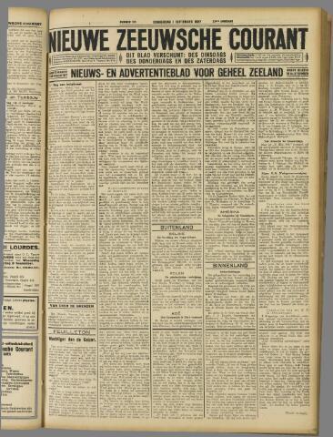 Nieuwe Zeeuwsche Courant 1927-09-01