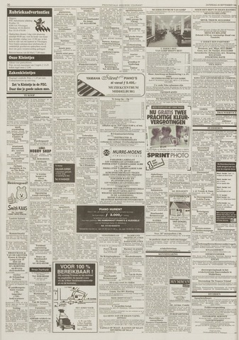 Zadeltuig Leren Bank.Provinciale Zeeuwse Courant 20 September 1997 Pagina 30