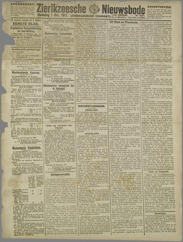 Zierikzeesche Nieuwsbode 1917-10-01