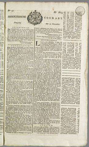 Zierikzeesche Courant 1814-11-15