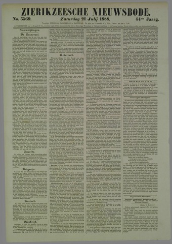Zierikzeesche Nieuwsbode 1888-07-21