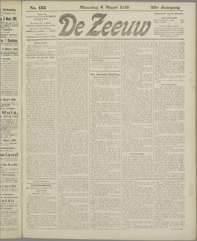 De Zeeuw. Christelijk-historisch nieuwsblad voor Zeeland 1916-03-06