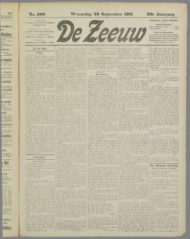 De Zeeuw. Christelijk-historisch nieuwsblad voor Zeeland 1915-09-29