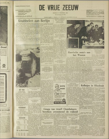de Vrije Zeeuw 1962-10-16