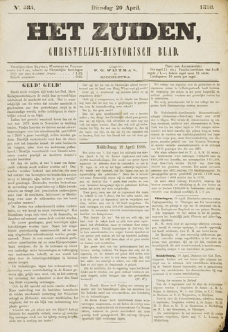 Het Zuiden, Christelijk-historisch blad 1880-04-20