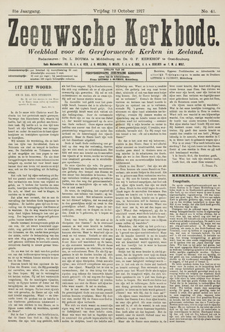 Zeeuwsche kerkbode, weekblad gewijd aan de belangen der gereformeerde kerken/ Zeeuwsch kerkblad 1917-10-12