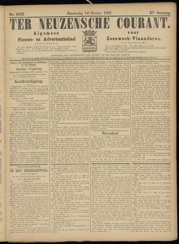 Ter Neuzensche Courant. Algemeen Nieuws- en Advertentieblad voor Zeeuwsch-Vlaanderen / Neuzensche Courant ... (idem) / (Algemeen) nieuws en advertentieblad voor Zeeuwsch-Vlaanderen 1897-10-14