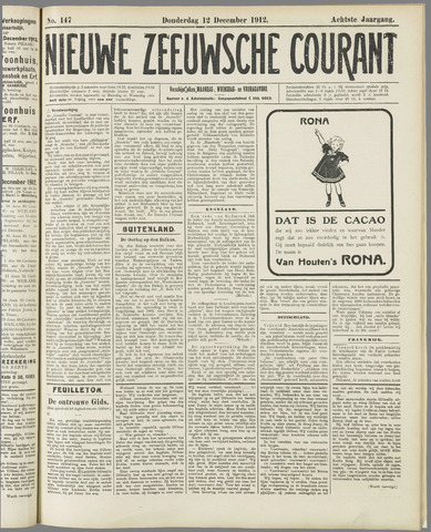 Nieuwe Zeeuwsche Courant 1912-12-12