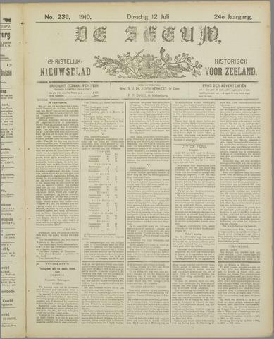 De Zeeuw. Christelijk-historisch nieuwsblad voor Zeeland 1910-07-12