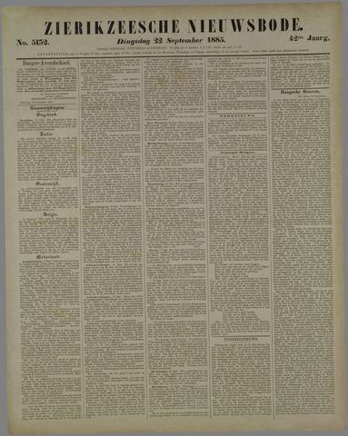 Zierikzeesche Nieuwsbode 1885-09-22