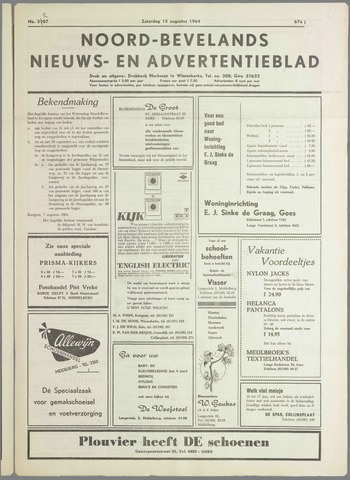 Noord-Bevelands Nieuws- en advertentieblad 1964-08-15