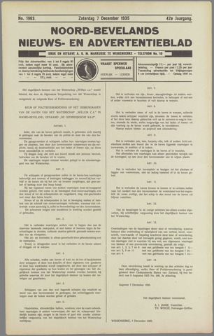 Noord-Bevelands Nieuws- en advertentieblad 1935-12-07