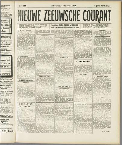 Nieuwe Zeeuwsche Courant 1909-10-07