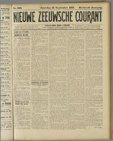 Nieuwe Zeeuwsche Courant 1917-09-15