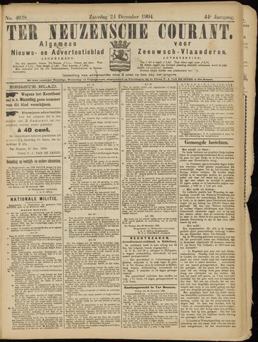 Ter Neuzensche Courant. Algemeen Nieuws- en Advertentieblad voor Zeeuwsch-Vlaanderen / Neuzensche Courant ... (idem) / (Algemeen) nieuws en advertentieblad voor Zeeuwsch-Vlaanderen 1904-12-24