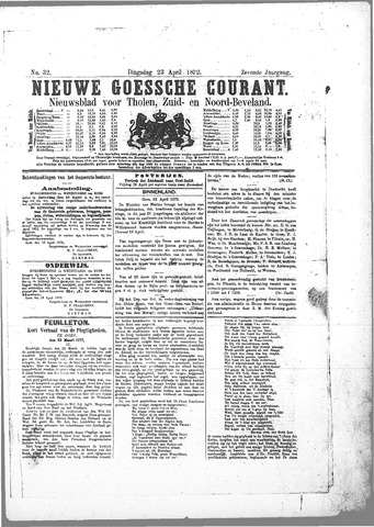 Nieuwe Goessche Courant 1872-04-23