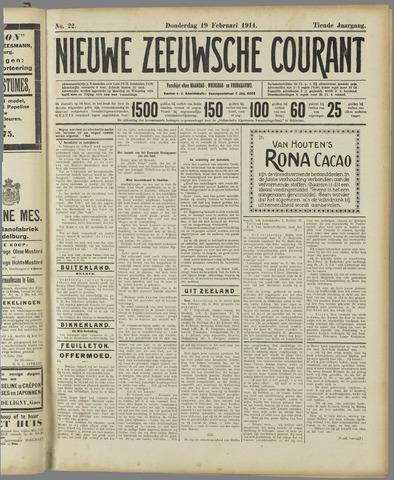 Nieuwe Zeeuwsche Courant 1914-02-19