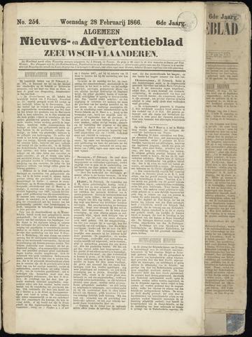 Ter Neuzensche Courant. Algemeen Nieuws- en Advertentieblad voor Zeeuwsch-Vlaanderen / Neuzensche Courant ... (idem) / (Algemeen) nieuws en advertentieblad voor Zeeuwsch-Vlaanderen 1866-02-28