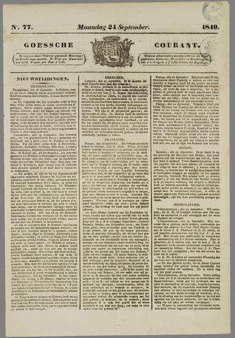 Goessche Courant 1849-09-24