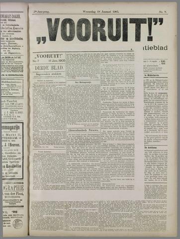 """""""Vooruit!""""Officieel Nieuws- en Advertentieblad voor Overflakkee en Goedereede 1905-01-18"""