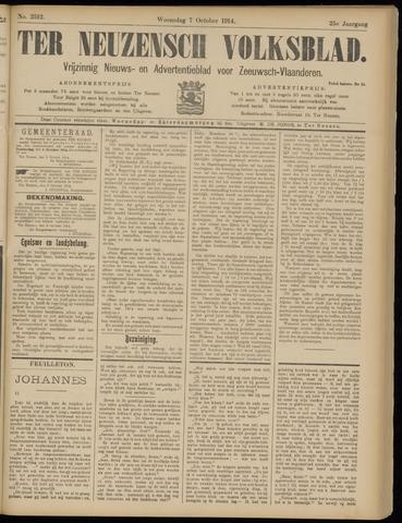 Ter Neuzensch Volksblad. Vrijzinnig nieuws- en advertentieblad voor Zeeuwsch- Vlaanderen / Zeeuwsch Nieuwsblad. Nieuws- en advertentieblad voor Zeeland 1914-10-07