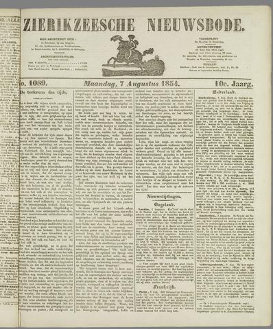 Zierikzeesche Nieuwsbode 1854-08-07