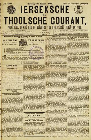 Ierseksche en Thoolsche Courant 1907-01-26