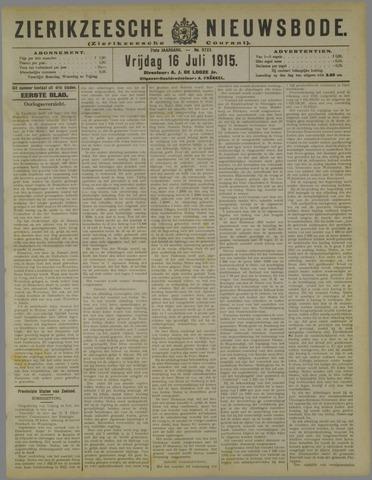 Zierikzeesche Nieuwsbode 1915-07-16
