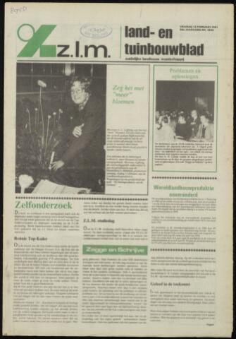 Zeeuwsch landbouwblad ... ZLM land- en tuinbouwblad 1981-02-13