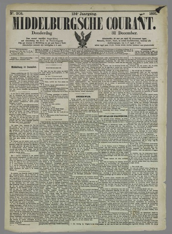Middelburgsche Courant 1891-12-31