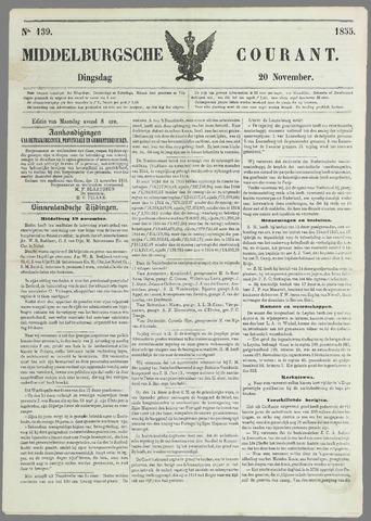 Middelburgsche Courant 1855-11-20