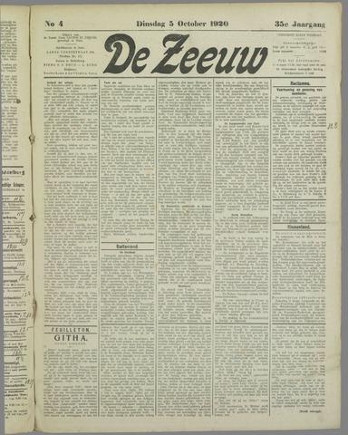 De Zeeuw. Christelijk-historisch nieuwsblad voor Zeeland 1920-10-05