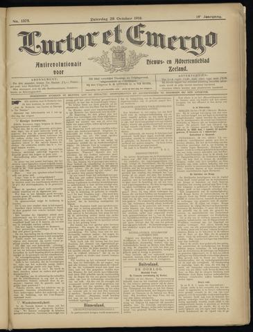 Luctor et Emergo. Antirevolutionair nieuws- en advertentieblad voor Zeeland / Zeeuwsch-Vlaanderen. Orgaan ter verspreiding van de christelijke beginselen in Zeeuwsch-Vlaanderen 1916-10-28