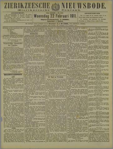 Zierikzeesche Nieuwsbode 1911-02-22