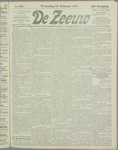 De Zeeuw. Christelijk-historisch nieuwsblad voor Zeeland 1917-02-14