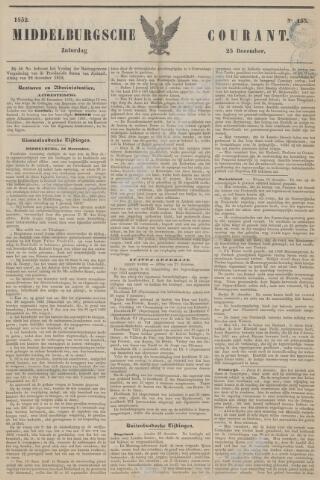 Middelburgsche Courant 1852-12-25