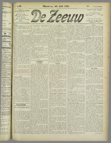 De Zeeuw. Christelijk-historisch nieuwsblad voor Zeeland 1921-07-25