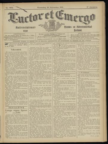 Luctor et Emergo. Antirevolutionair nieuws- en advertentieblad voor Zeeland / Zeeuwsch-Vlaanderen. Orgaan ter verspreiding van de christelijke beginselen in Zeeuwsch-Vlaanderen 1913-11-26
