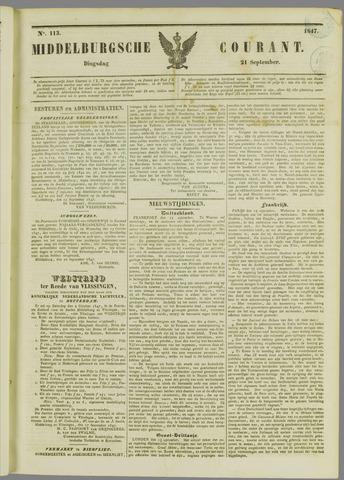 Middelburgsche Courant 1847-09-21
