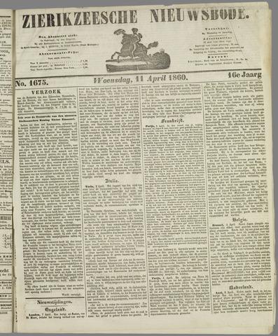 Zierikzeesche Nieuwsbode 1860-04-11