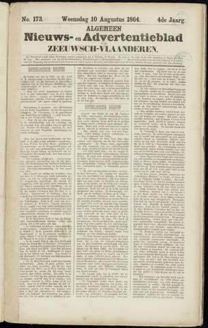 Ter Neuzensche Courant. Algemeen Nieuws- en Advertentieblad voor Zeeuwsch-Vlaanderen / Neuzensche Courant ... (idem) / (Algemeen) nieuws en advertentieblad voor Zeeuwsch-Vlaanderen 1864-08-10