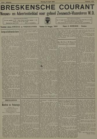 Breskensche Courant 1936-04-21