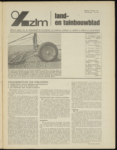 Zeeuwsch landbouwblad ... ZLM land- en tuinbouwblad 1971-03-05