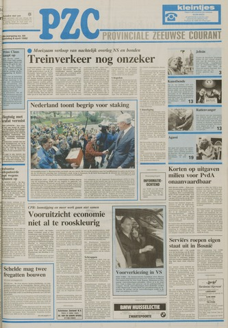 Provinciale Zeeuwse Courant 1992-04-08
