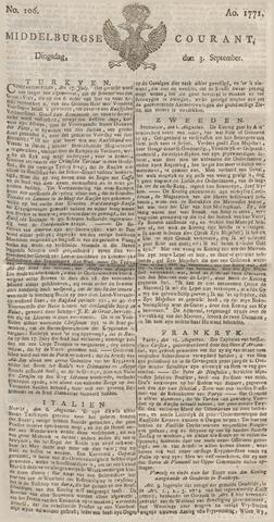 Middelburgsche Courant 1771-09-03