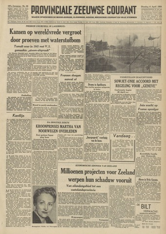Provinciale Zeeuwse Courant 1954-04-06