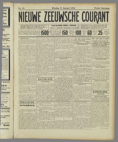 Nieuwe Zeeuwsche Courant 1914-01-27