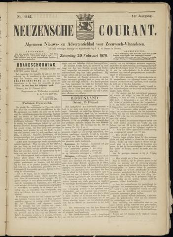Ter Neuzensche Courant. Algemeen Nieuws- en Advertentieblad voor Zeeuwsch-Vlaanderen / Neuzensche Courant ... (idem) / (Algemeen) nieuws en advertentieblad voor Zeeuwsch-Vlaanderen 1876-02-26