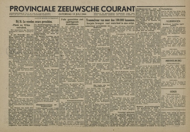 Provinciale Zeeuwse Courant 1944-07-15